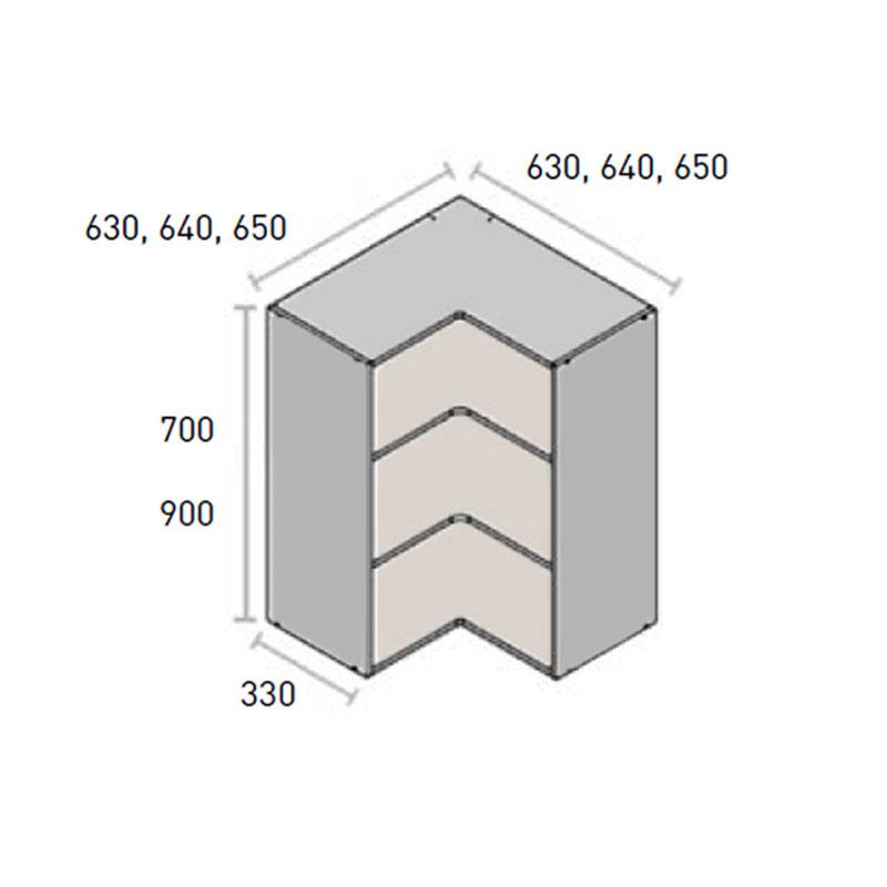 Casco alto GAMA PRO/MAX rincón angular reversible