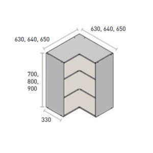 Gama pro alto rincón angular reversible KPROcomponentes