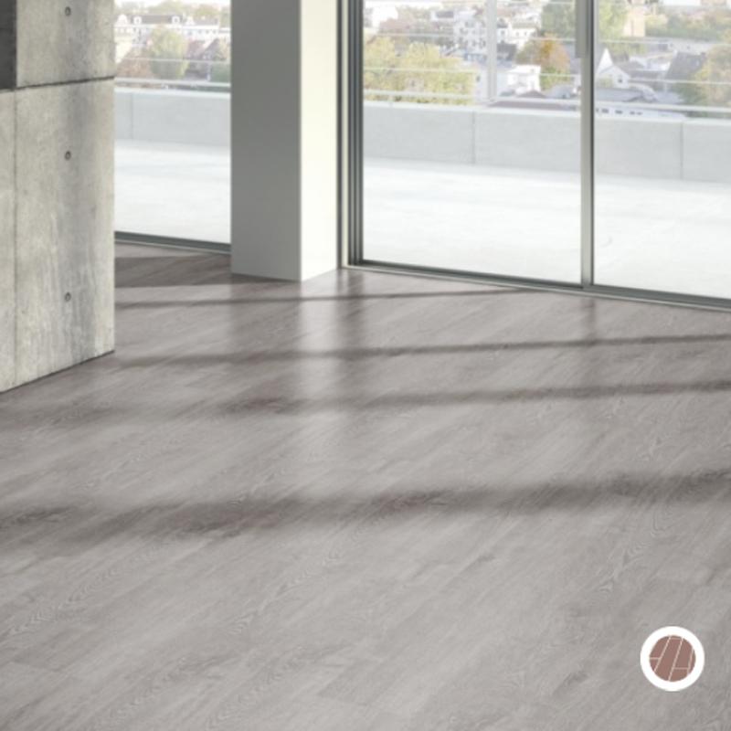 Suelo laminado roble gris claro 1475597 kprocomponentes for Suelos laminados adhesivos